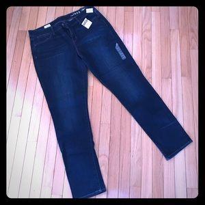Gap size 33 mid rise skinny jeans dark wash NWT